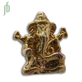 Ganesh Bedel Kraal Bead Gerecycled Messing
