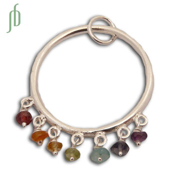 Well-being Zeven Chakra Hanger met halfedelstenen
